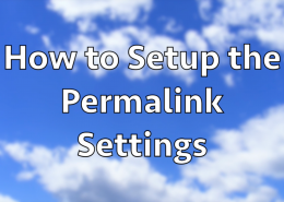How to Setup the Permalink Settings