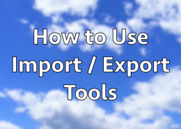 How to use Import and Export Tools in WordPress