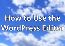 How to Use the WordPress Editor