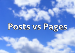 Posts vs Pages in WordPress